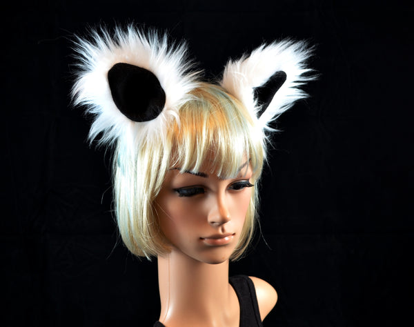 Lemur Ears Clip On in Faux Fur - Morphe