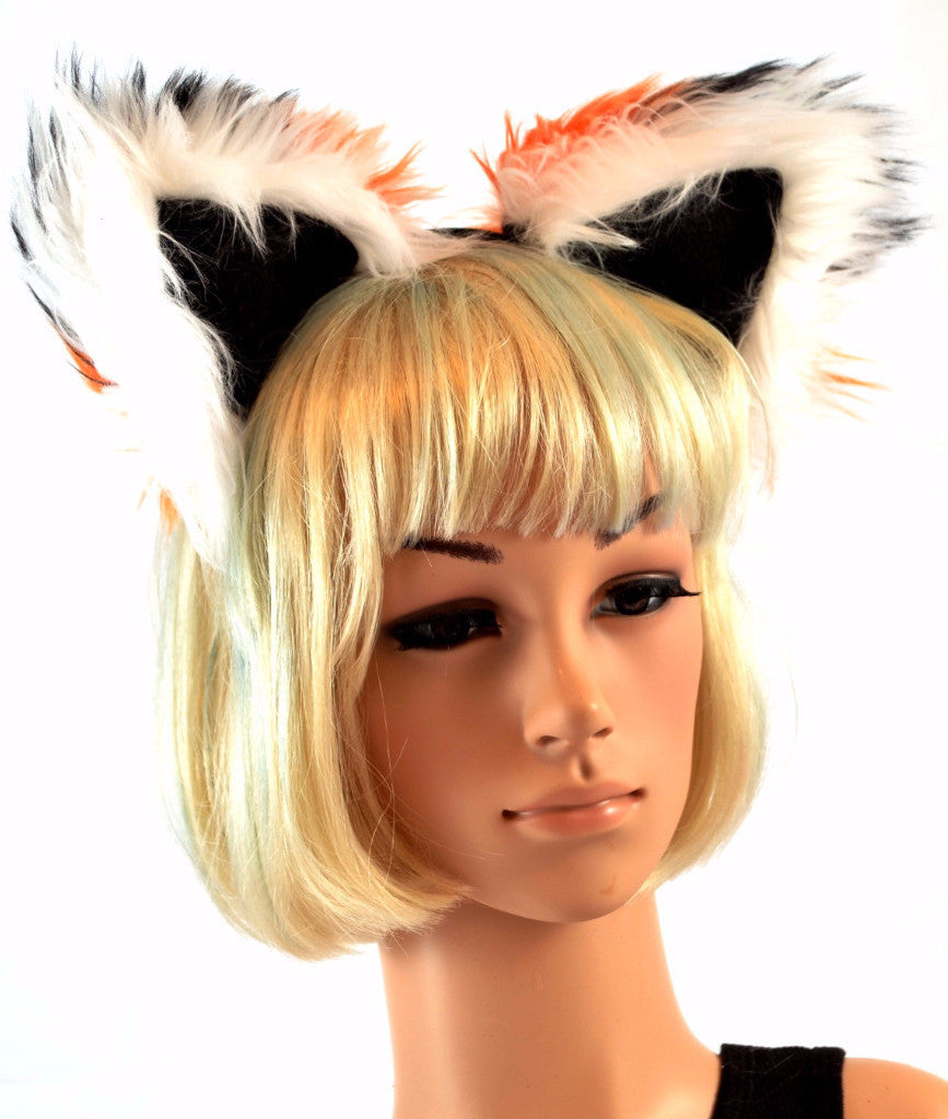 Orange Fox Ears Faux Fur on Headband - Morphe