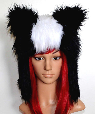 Skunk Hat Faux Fur Animal Hood - Morphe