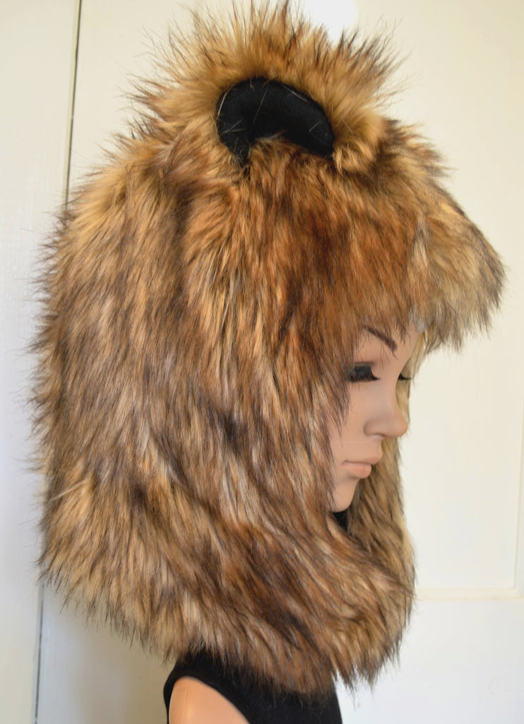 2dd4866caaf12 ... Brown Bear Hat Faux Fur Grizzly Animal Hood - Morphe ...