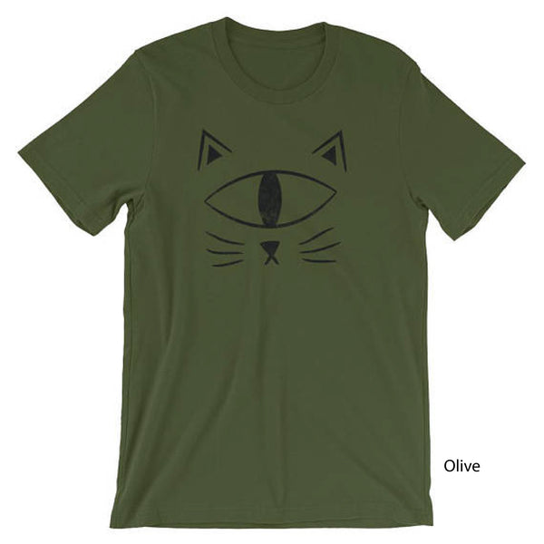 Cat Face Shirt Short-Sleeve Unisex Distressed T-Shirt Adult EyeSpy - Morphe