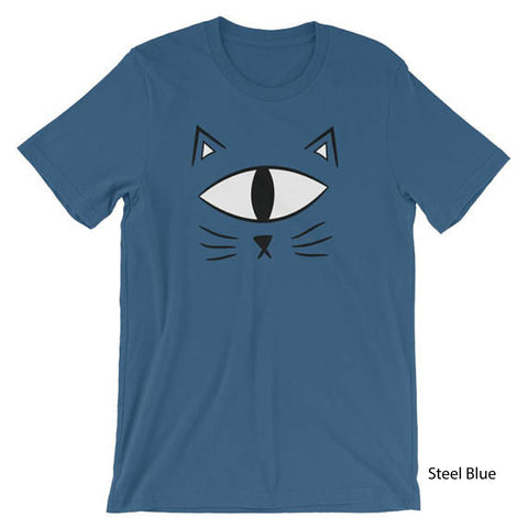 Cat T-shirt Short-Sleeve EyeSpy Unisex Shirt Adult - Morphe