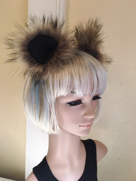 Brown Bear Ears Clip On in Faux Fur - Morphe