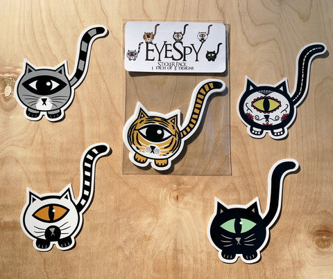 EyeSpy Kittyclops Sticker Pack DSH 3 - Morphe