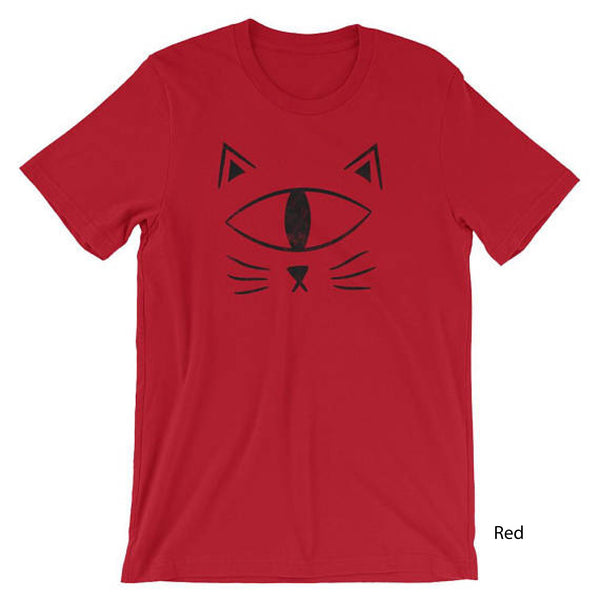 EyeSpy Cat Face Shirt Short-Sleeve Unisex Distressed T-Shirt Adult - Morphe