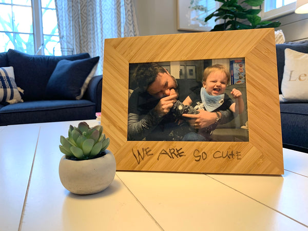 Customizable Laser Engraved Bamboo Picture Frame