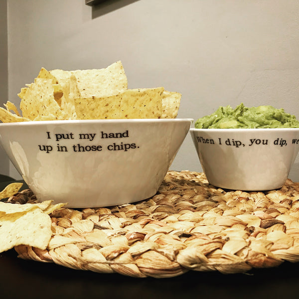 When I Dip, You Dip, We Dip Porcelain Dip Bowl (Smaller Bowl Pictured)