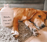Bitch, You Roll Over Porcelain Dog Treat Jar