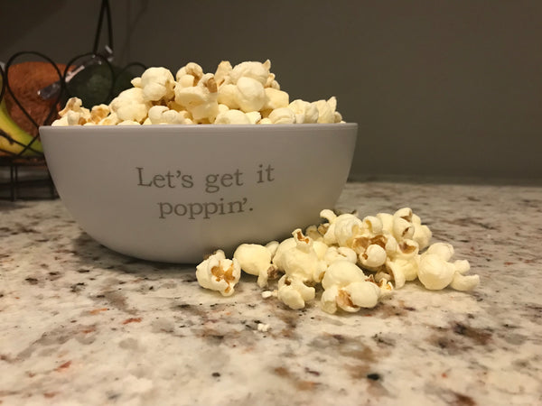 Let's Get it Poppin' Plastic Popcorn Bowl