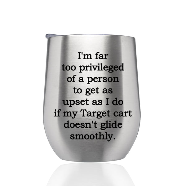 Stainless Steel Travel Wine Tumbler- Target Cart