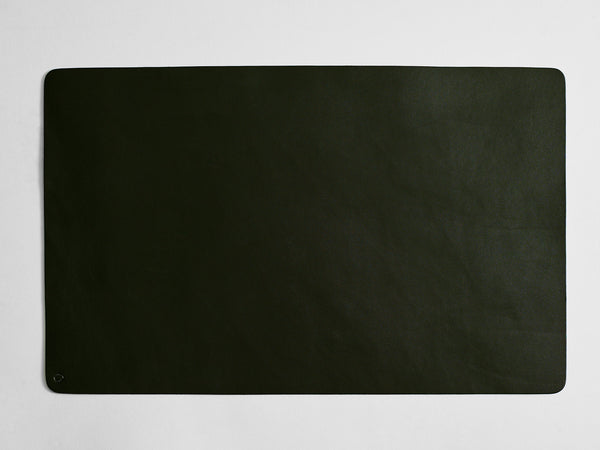 Leather Desk Mat Black