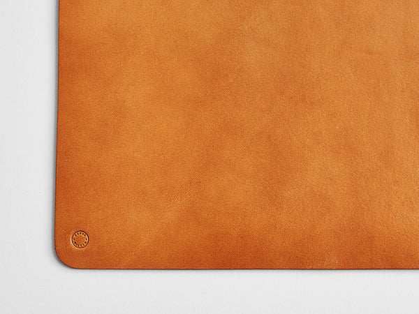 Leather Desk Mat Tan