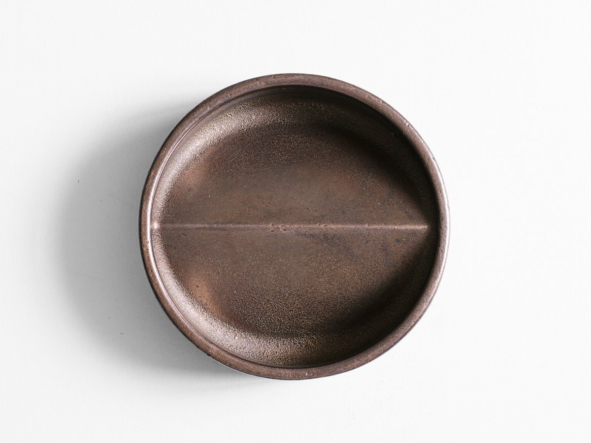 Vide Poche Rond Blackened Bronze