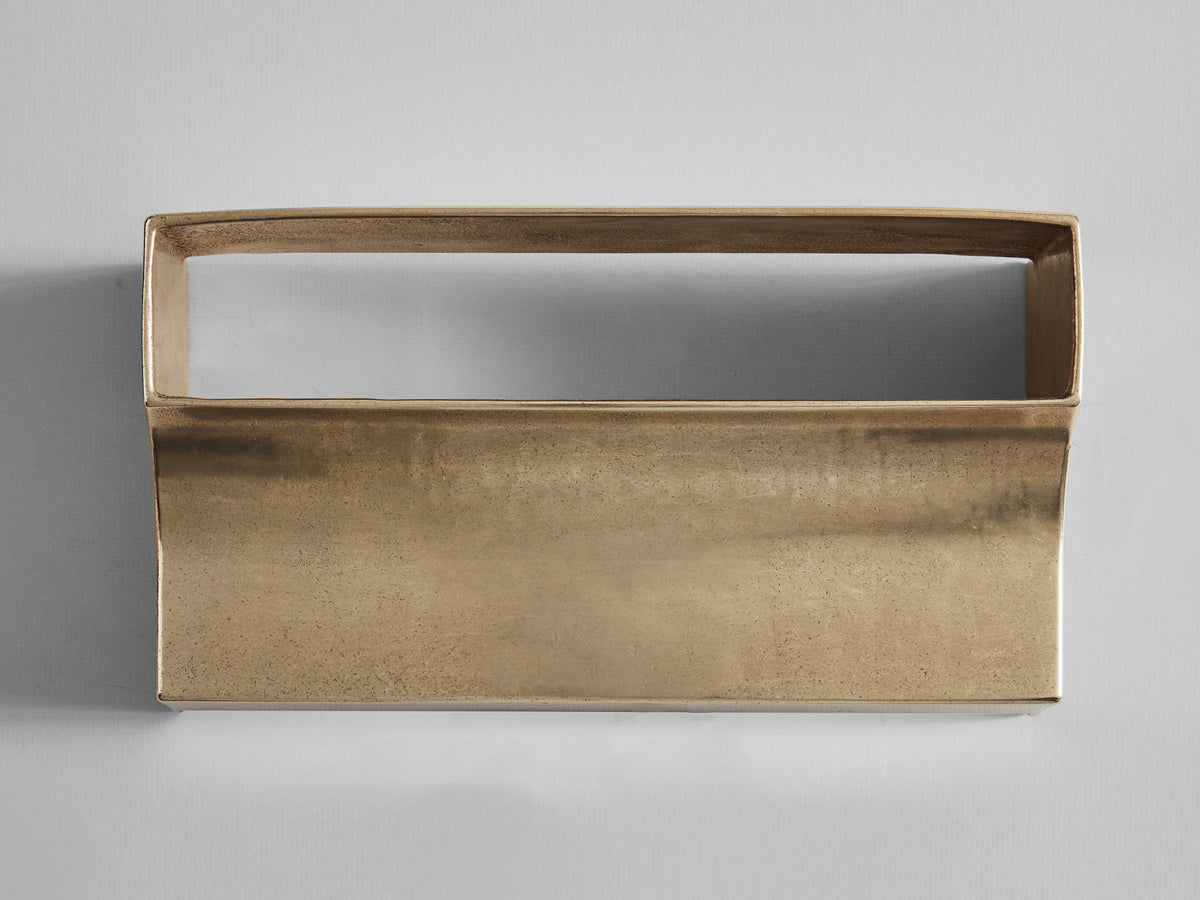 Scoop Wall Light Brass