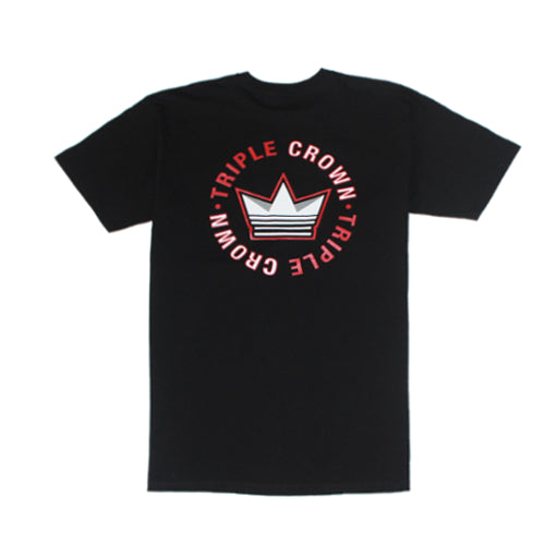Triple Crown Core Tee - Black/Red