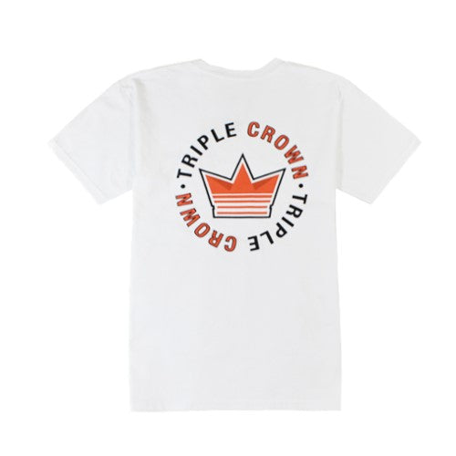 Triple Crown Core Tee - White/Orange