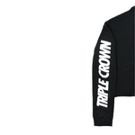 Crown Crop Hoodie - Black/White