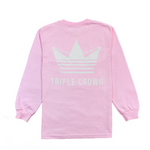 Crown Enthusiast LS Tee - Pink/White