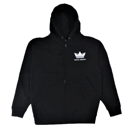 Crown Enthusiast Zip Hoodie - Black