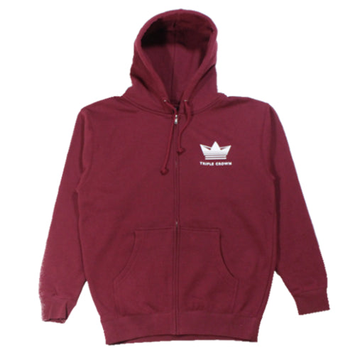 Crown Enthusiast Zip Hoodie - Cardinal