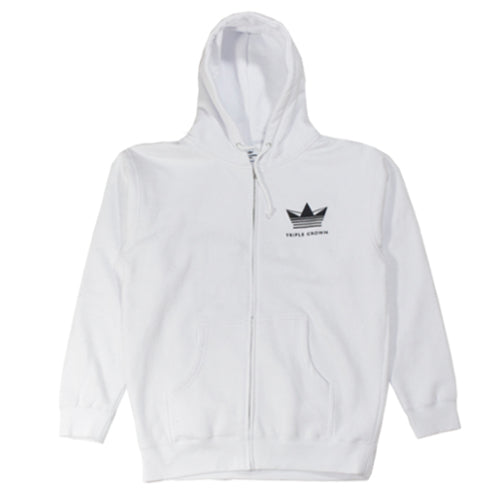 Crown Enthusiast Zip Hoodie - White