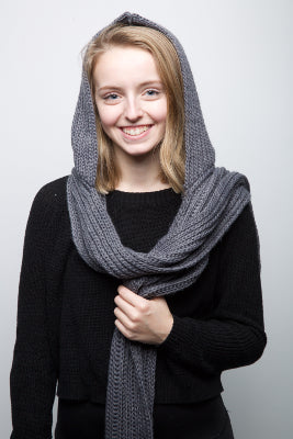 Hooded Scarf - Grey