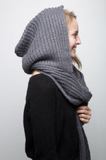 Hooded Scarf - Dark Grey