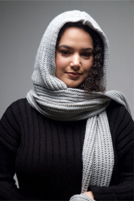 Hooded Scarf - Light Grey