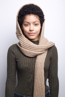 Hooded Scarf - Tan