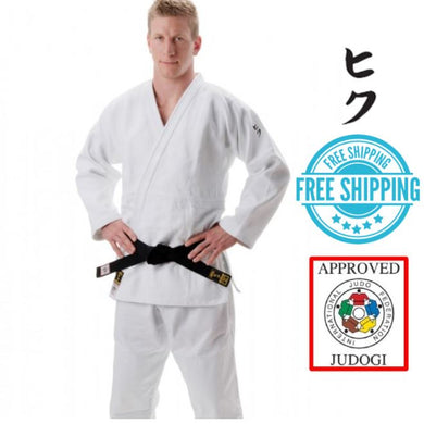 Hiku Shiai II, Slim Fit Judo Gi IJF Approved White