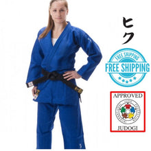 Hiku Shiai II, Slim Fit Judo Gi IJF Approved Blue
