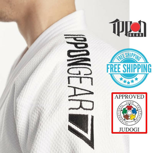 Ippongear IJF Approved Judo Gi White Slim Fit