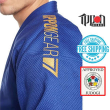 Load image into Gallery viewer, Ippongear IJF Approved Judo Gi Blue Jacket