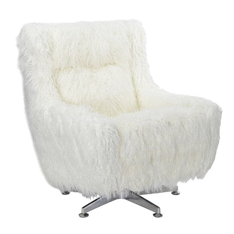 Aaron Swivel Chair Soft White