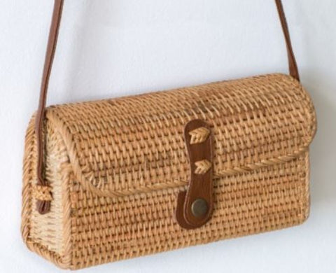 Rectangular Rattan Purse - 230MM