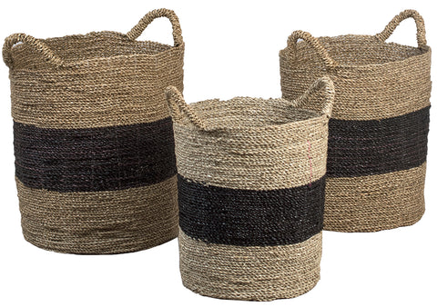 Nesting Striped Basket Set