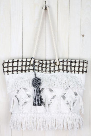 Diamond Patterned Tote Bag