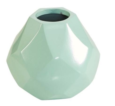 Diamonds Short Vase - Mint