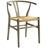 Amish Dining Wood Side Chair - Gray