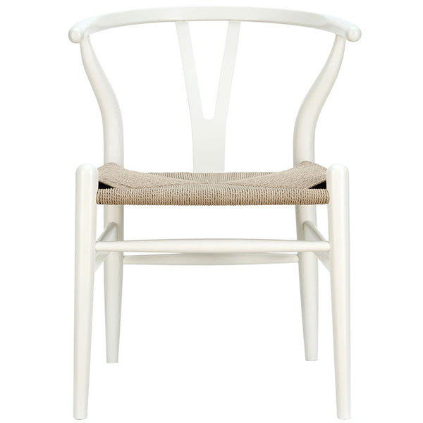 Amish Dining Wood Armchair - White