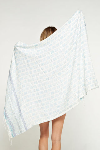 Double Sided Printed Towel - Block