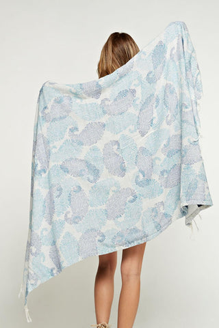 Double Sided Printed Towel - Paisley
