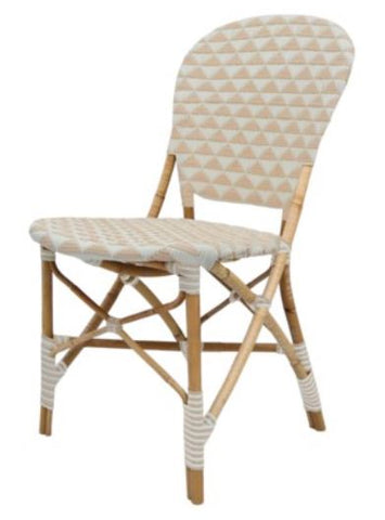 Pinnacles Side Chair - White/Blush