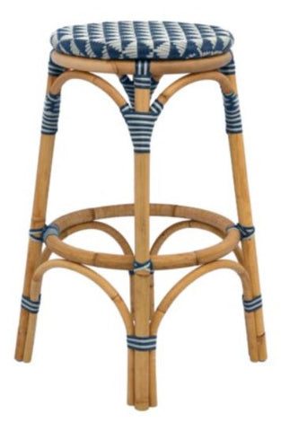 Pinnacles Bar Stool - Navy/Blush