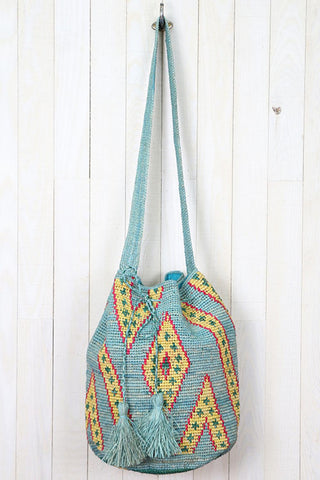 Patterned Drawstring Bag