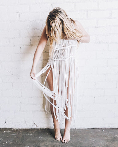 Cover up Fringe Dress