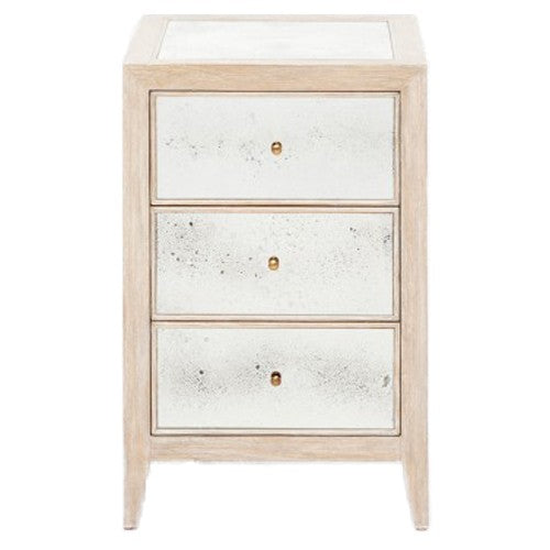 Mia Nightstand in Whitewashed Oak - Small