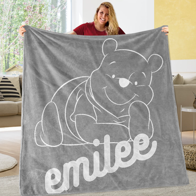 Custom NAME Cozy Plush Fleece Blankets - BUY 2 SAVE 10%