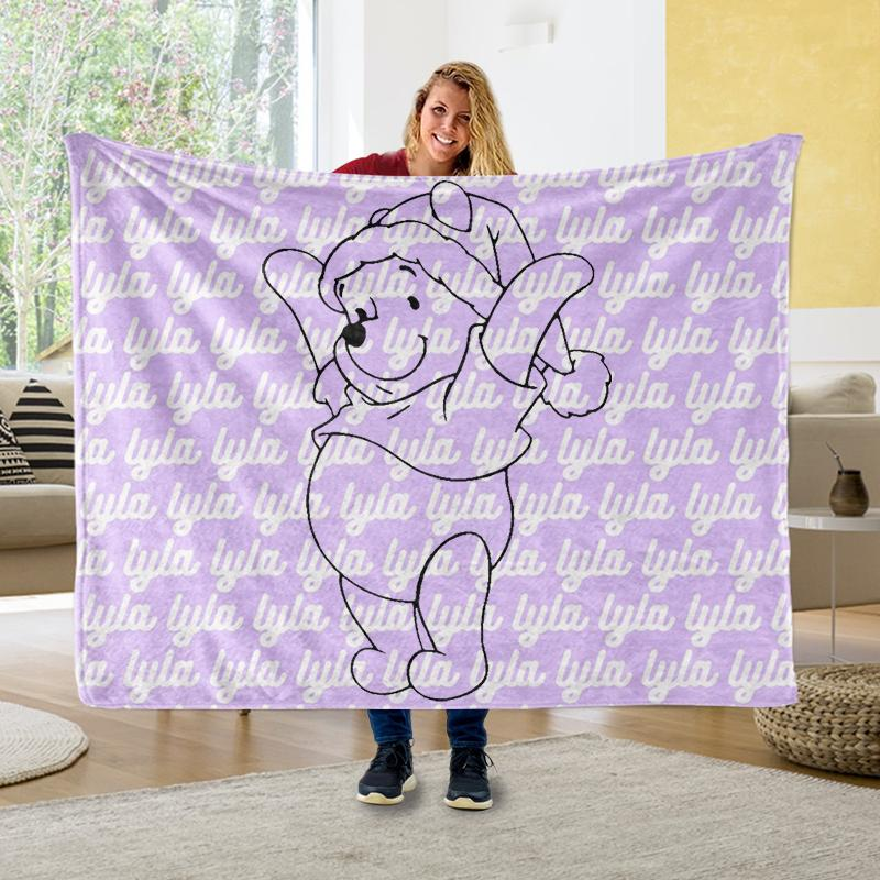 Custom NAME Cozy Plush Fleece Blankets II - BUY 2 SAVE 10%