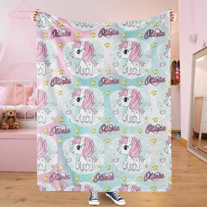 Custom UNICORN Name Blankets IV